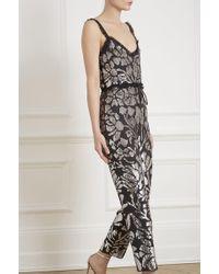 Needle & Thread - Floral Gloss Jumpsuit - Lyst