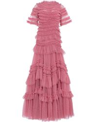 Needle & Thread Wild Rose Ruffle Gown - Pink