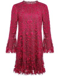 Needle & Thread Demetria Mini Dress - Red