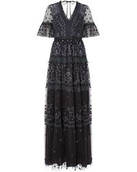 Needle & Thread Midsummer Lace Gown - Black