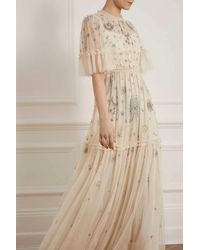 Needle & Thread Ether Gown - Natural
