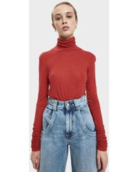 Just Female - Eva Ruched Sleeve Top - Lyst