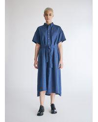 Engineered Garments Women's Bd Shirt Dress - Blue