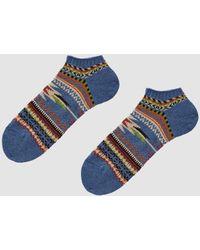 Chup - Low Sock In Stone Blue - Lyst