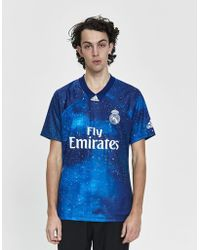 adidas - S/s Real Madrid Cf Ea Soccer Jersey - Lyst