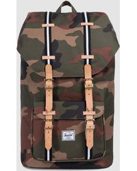 Herschel Supply Co. | Little America Offset Backpack In Camo/black/white | Lyst