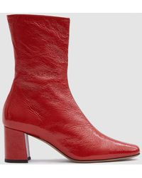Trademark - Mira Crinkle Patent Boot - Lyst