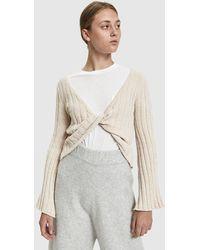Stelen - Emily Twist Front Sweater - Lyst