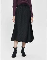 Pleats Please Issey Miyake Flow Midi Skirt - Black