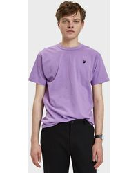 Play Comme des Garçons - Small Black Heart Play T-shirt In Purple - Lyst