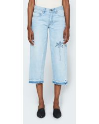 Frankie - Cropped Baggy W/ Palm Trees - Lyst