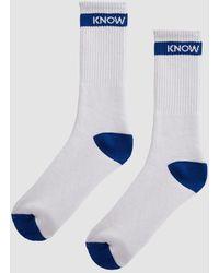 Know Wave On Loop Socks - Royal - White