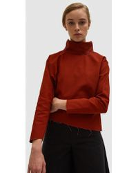 Ashley Rowe - Fitted Turtleneck In Red - Lyst