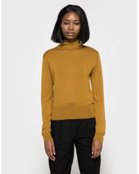 Need Supply Co. - Buttoned Roll Neck In Ochre - Lyst