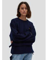 Collina Strada | Sweatshirt Grommeted In Navy | Lyst