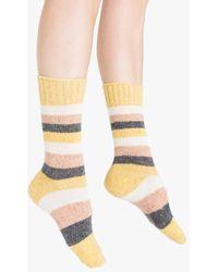 Need Supply Co. - Cydni Silk Blend Stripe Crew Sock - Lyst