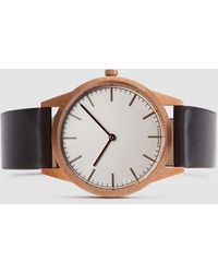 Uniform Wares - C35 Pvd Rose Gold Shell Cordovan Strap Watch - Lyst