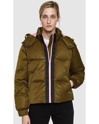 Ganni - Puffer Jacket With Hood And Contrasting Zip - Lyst