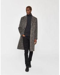 John Elliott Jacquard Fur Overcoat