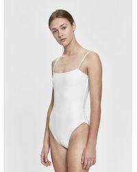 NU SWIM - Straight One-piece Swimsuit - Lyst