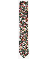 The Hill-side - Standard Pointed Tie-small Flower Print - Lyst
