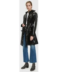 Rains - Curve Rain Jacket In Glossy Black - Lyst