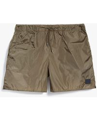 Acne Studios Perry Swimshort In Canvas Beige - Natural