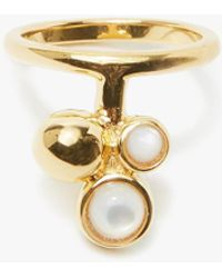 Lizzie Fortunato - Cluster Ring In Pearl - Lyst