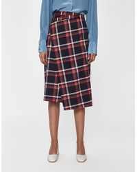 Just Female - Charles Checked Skirt - Lyst