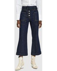 Carven Belted Denim Trouser - Blue