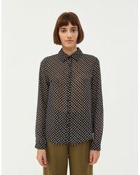 Farrow Women's Amy Geometric Print Blouse - Black
