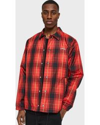 Stussy - Cruize Coach Jacket In Red Plaid - Lyst