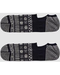 Chup - Cover Three No-show Sock In Navy - Lyst