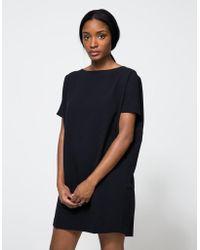 Kaarem - Angle Mini Dress In Black-blue - Lyst