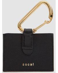 Sacai Key Tag In Black