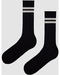 Anonymous Ism - Cordura Pile Lines Crew Sock In Black - Lyst