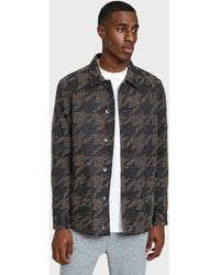 Native Youth - Lynx Jacket In Charcoal/brown - Lyst