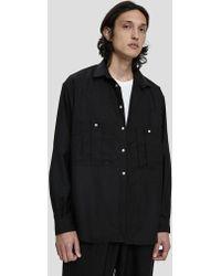 Dima Leu - Wool Button Up Shirt - Lyst