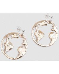 Open House - Earth Earrings In Bronze - Lyst
