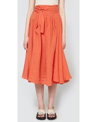 Black Crane | Wrap Skirt In Paprika | Lyst