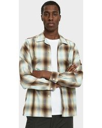 Beams Plus - Open Collar Ombre Check Shirt - Lyst