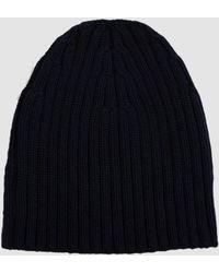 Dries Van Noten Ribbed Wool Beanie - Blue