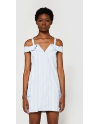 Farrow - Folded Collar Dress - Lyst
