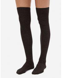 Baserange - Silk Overknee Socks - Lyst