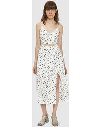 Farrow - Emily Polka Dot Cutout Dress - Lyst