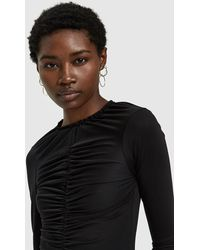 Toit Volant - Totty Ruched Top In Black - Lyst