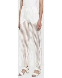 House Of Sunny - Transparent Track Pants - Lyst