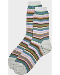 Hansel From Basel Women's Horizon Shimmer Crew Socks - Blue