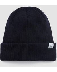 Norse Projects Ribbed Merino Wool Beanie - Blue