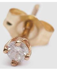 Loren Stewart - Single Diamond Starter Stud Earring - Lyst